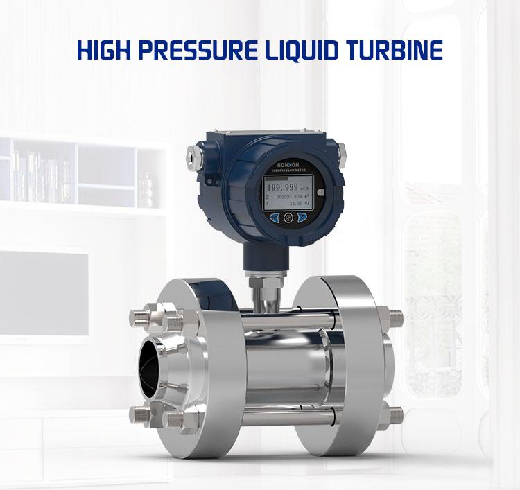 High pressure liquid turbine flow meter DN80 diesel flow meter