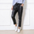 2017 Culotte Style Sexy Black PU ninth Leather Pants Faux Woman leggings