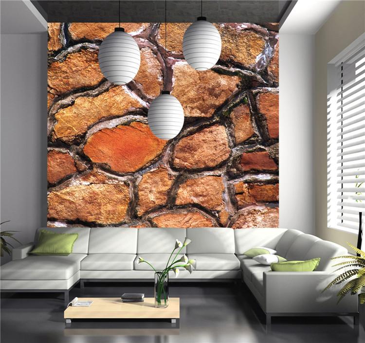 Precio de f brica personalizada patr n de piedra 3d papel for Papel de pared precio
