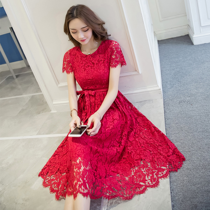 2017 New Arrival Autumn Hot Sell Fashion Elegant Lace Dress