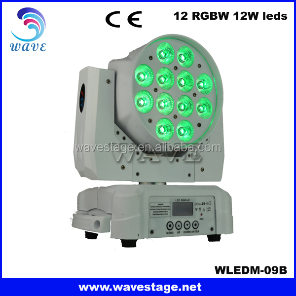 WLEDM-09-2B professional 12x10w led moving head disco light price