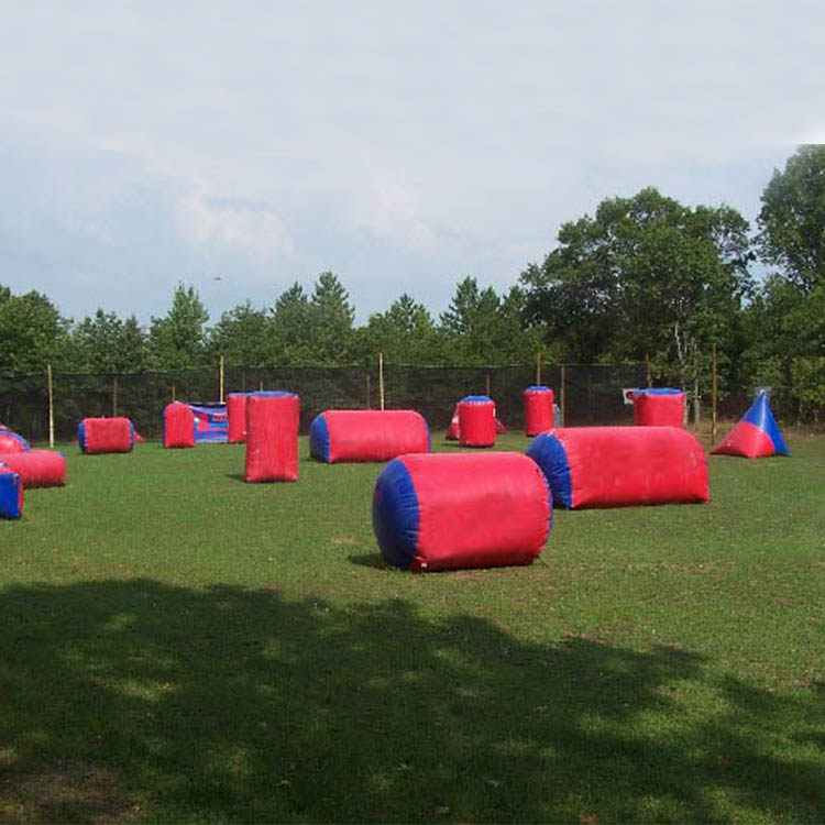 Factory price inflatable paintball arena, kids inflatable paintball bunkers, inflatable paintball obstacle for adults