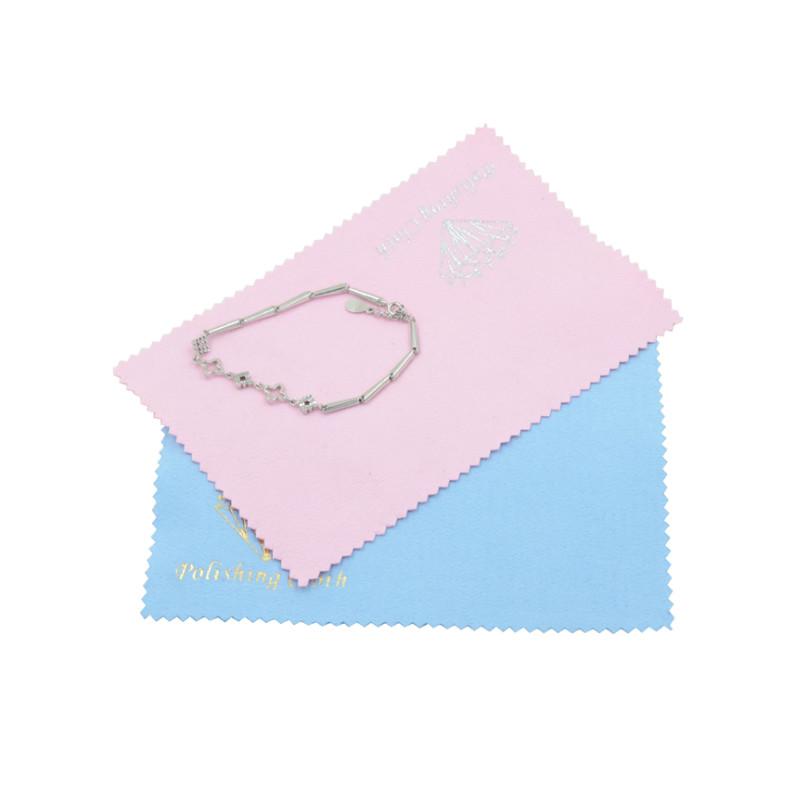 Custom Print Jewellery Polish Cloth With Logo Microfiber Silver Gold Jewelry Polishing Cleaning Cloth