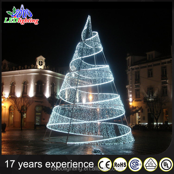 outdoor metal white led spiral christmas tree - Led Spiral Christmas Tree