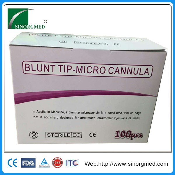 Plastic surgery h a filler Micro cannula Blunt needle for injection