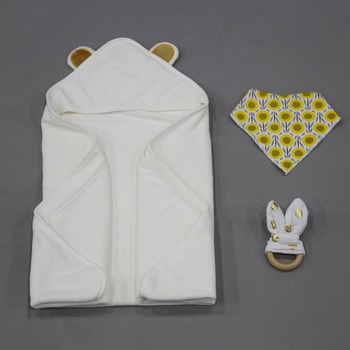 2018 new design cheap hot sale 100 cotton hooded baby bath towel