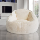 Angola fur bean bag chairs with micro velvet seat