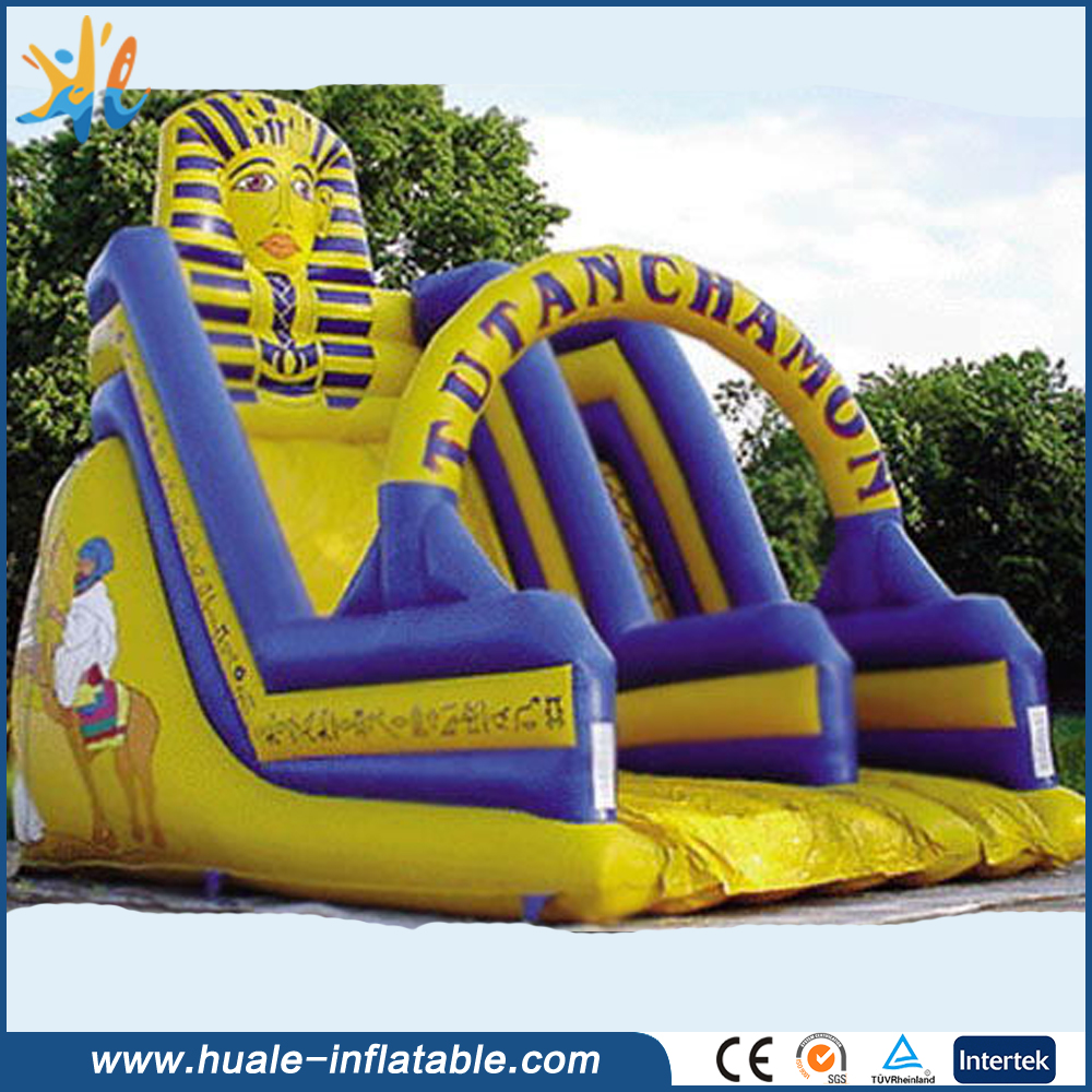 New design Popular Yellow Cheap Giant Inflatable Slide with arch
