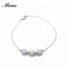 High Quality Circle Aaa Cz Sterling Silver 925 Bracelet Jewellery