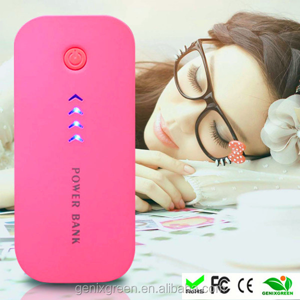 Portable 5600 mah power bank with LED light and charge for electronic products