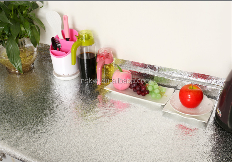 Aluminum Colour Rubber Waterproof Kitchen Cabinet Shelf Protect Mat Refrigerator Pads Fridge Mat