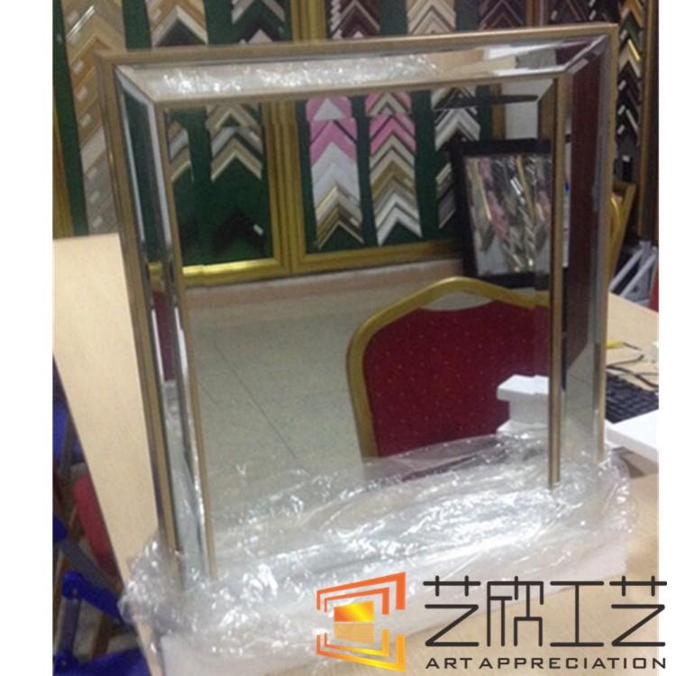 Brandneu Plastic Frame Spiegel 50x60 Antieke Bladgoud Frame Muur Spiegel  TS48