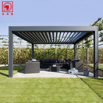 Kayu Butir Pavilion Taman Outdoor Dengan Harga Murah Modern