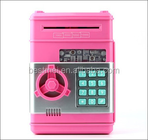 Creative automatically eat money piggy bank mini safe box
