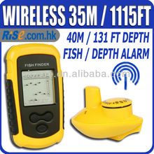 Portable Fishfinder Alarm 40M/131FT Depth Wireless Sonar Fish Finder