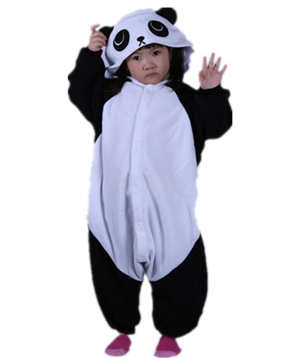 Get Quotations · Unisex Kids White Panda Onesies Costumes Famous Cartoon  Cute Pajama Halloween Christmas Party Children Cosplay Lounge 14f61dcad2db2