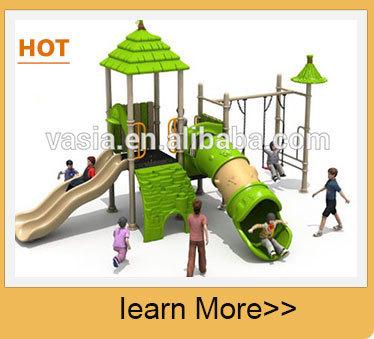 2 10year China Outdoor Play Equipment Children Plastic Playground With Swing