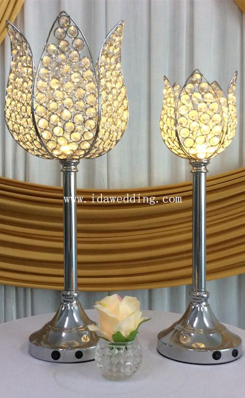 Crystal lotus wedding table centerpiece led