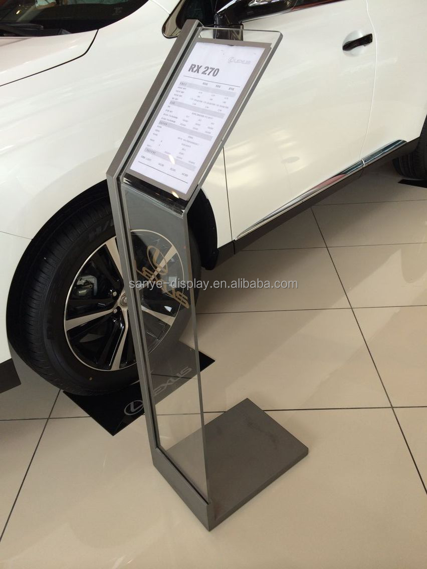 New item acrylic material show display car floor stand for Stand auto