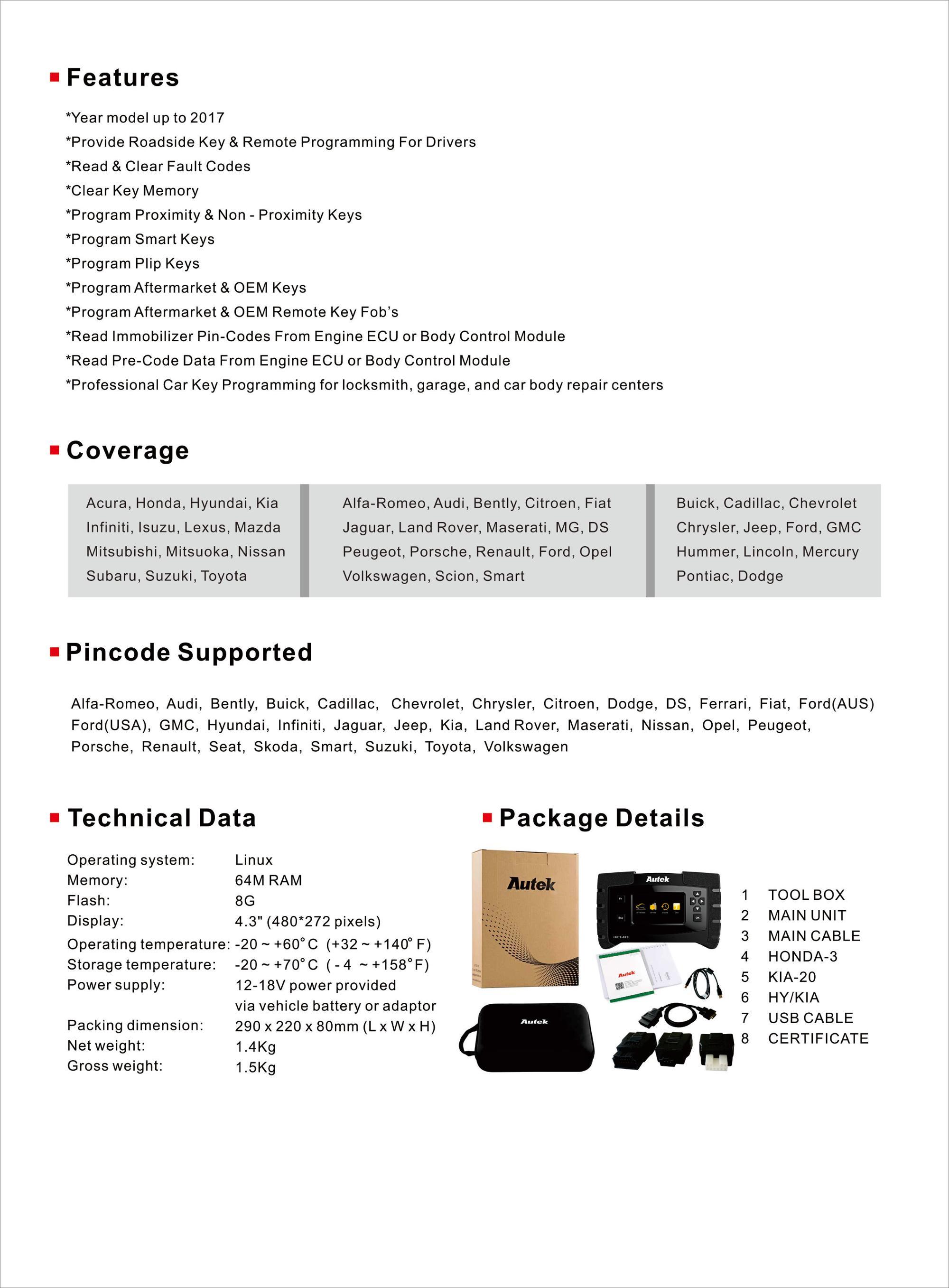 Autek Ikey820 Competitive Price Key Programming Tool Ikey820 Universal Car  Key Programmer - Buy Car Key Programmer,Key Programming Tool,Universal Car