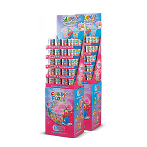Free New Custom Design High Quality Promotion Recyclable Cardboard Fireworks Display Shelves