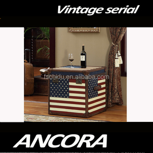 American Flag Jean Decorative Storage Trunk