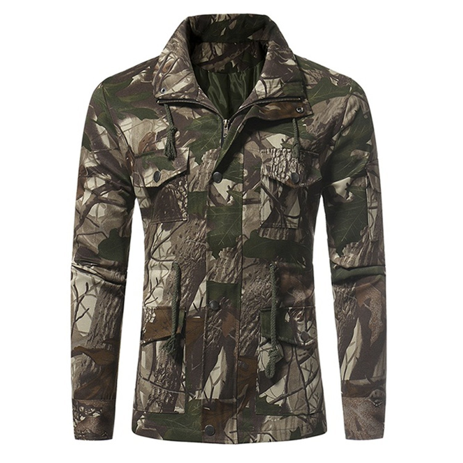 d2f8a440edd Get Quotations · Winter Bomber Jacket Men Military Male Jacket Camouflage  Zipper Coat Pockets Waist Mens Basic Army Green