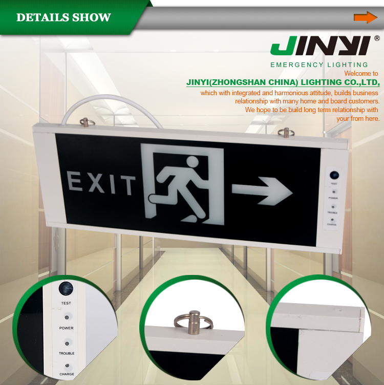 Public Places Popular Combo Led Exit Sign & Emergency Lighting ...