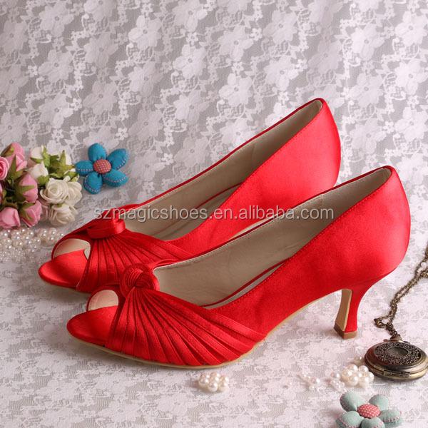 Venta Al Por Mayor Color De Zapatos Para Vestido Rojo Compre