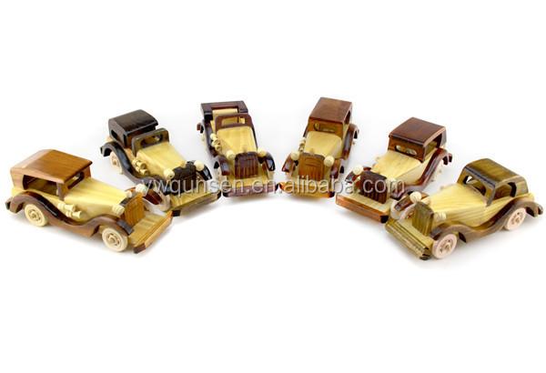 Verrassend Hoge Kwaliteit Handgemaakte Houten Speelgoed Voertuigen Antieke WQ-29