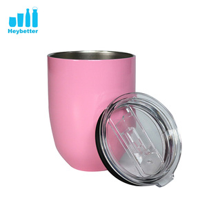 High quality 12oz thermos drinking insulated steel wine tumbler