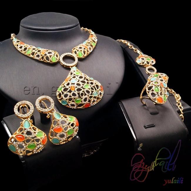 Dubai Gold Jewellery Set 2014 Pakistani Bridal Jewelry Sets Zhou