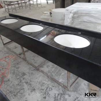 Prefab Granite Countertops One Piece Bathroom Sink And