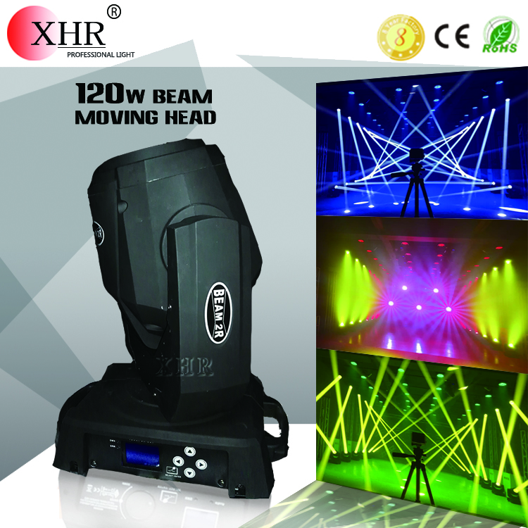 Professional Gobo stage lighting 120W Spot led moving head mini beam 2r