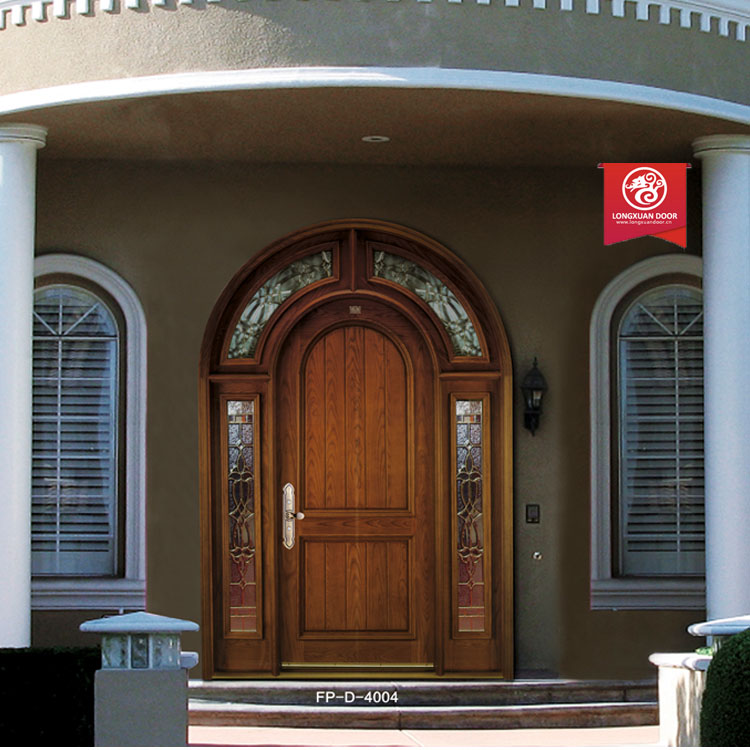 fiberhglass arched door interior arched double entry wood door