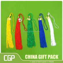 Handmade long red jade for charm chinese knot tassel with gold