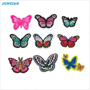 Modern style good quality garment butterfly custom applique clothing embroidery