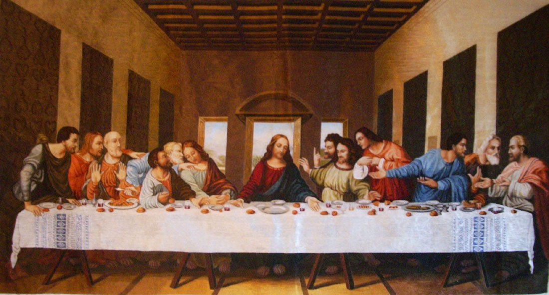 last supper embroidery picture