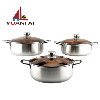 New style cooking pot set stainless steel stock pot stainless steel hot pot with handle
