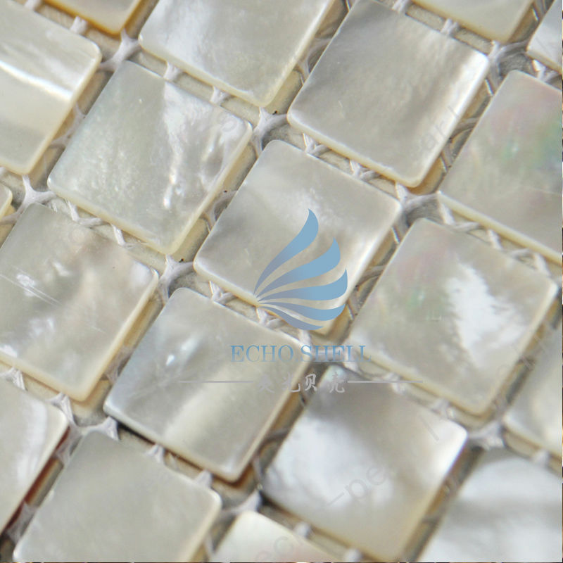 River Bed Nature Pearl Shell Mosaic  Tiles Nature Squre  Full Sheet 20*20 mm