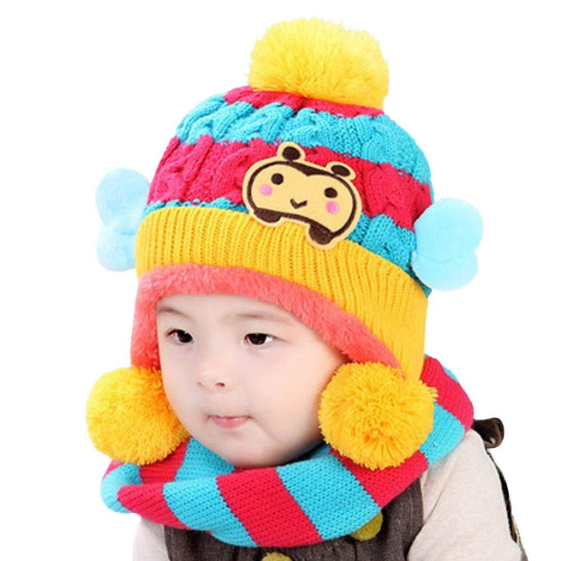 3465a4aa659 Get Quotations · Bee Style Hat Scarf