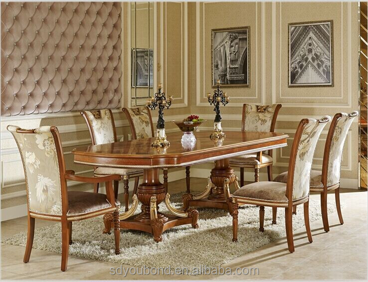 0062 Luxury Royal Clic Italian Dining Room Sets