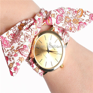 lady Interchangeable watch fashion lady dress women ribbon watch