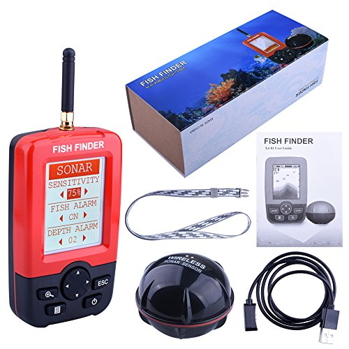 Wireless Fish finder Sonar XJ01 Colorful Display Portable fishing Sensor for baiting