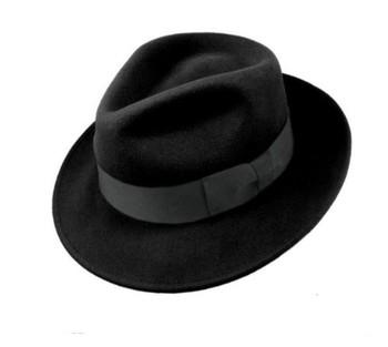 6fc5b097513e8 Chapéu De Homens De Moda 100% Lã Sentiu Chapéu Fedora Preto - Buy ...