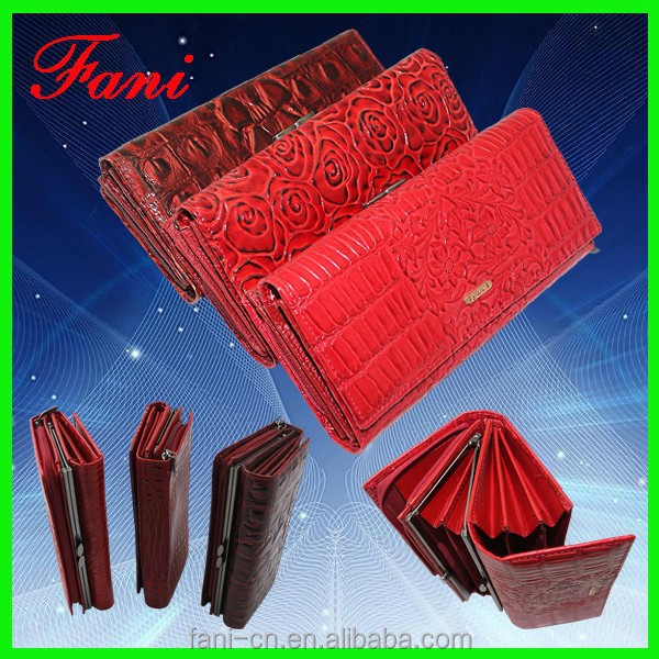 Multipurpose fancy floral print handmade PU leather wallets for ladies/women with zip coin pocket