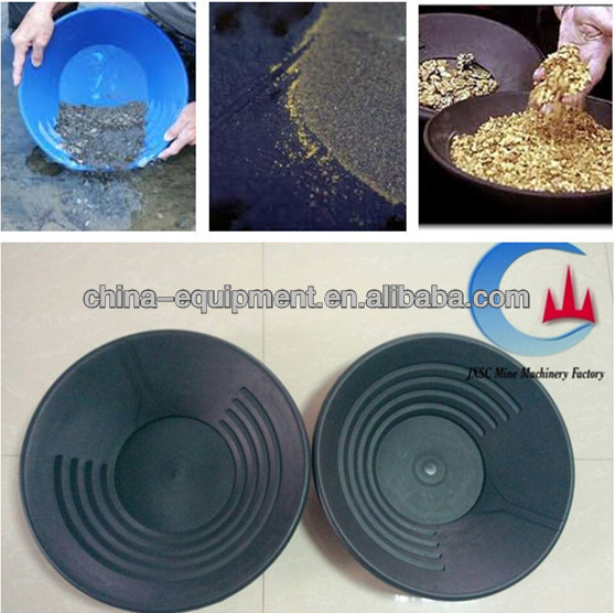 mini pan plastic kit for gold panning dish