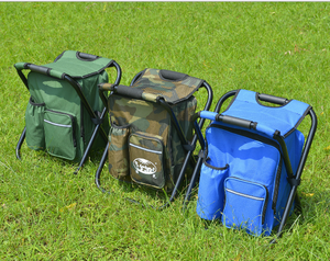 BP03 Definite outdoor fishing camping barbecue folding backpack chair ice cooling bag insulation bag