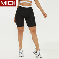 Athletic Apparel Manufacturers Wholesale Custom Plus Size Women Nylon Spandex Cotton Black White Girls High Waisted Biker Shorts
