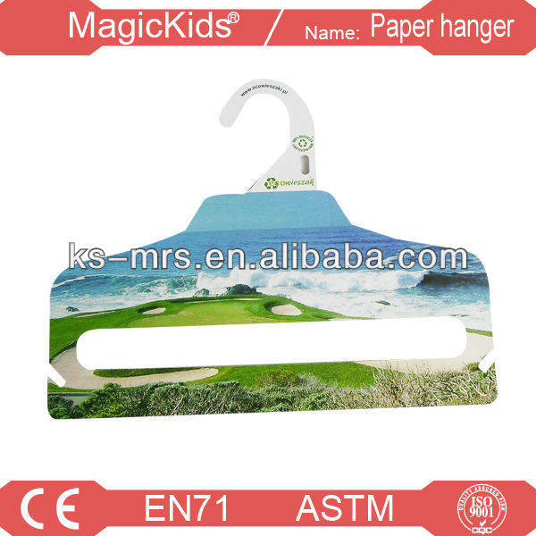Paperboard clothes hangers plastic hooks